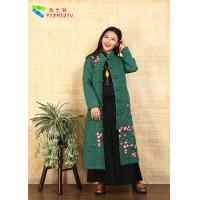Quality Green Chinese Style Winter Coats Costume for sale
