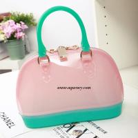 Quality Buy small clear transparent PVC zipper shell bag for ladies,welcome OEM design for sale