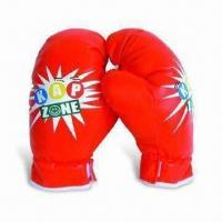 China Boxing Gloves in Red Color, Made of PP Filled Cotton and PVC Leather, Measures 68 x 46 x 72cm on sale