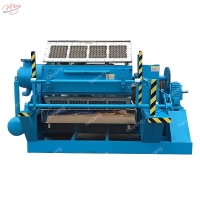 China Small Paper Pulp Fruit Tray Machine Egg Tray Molding Machine Paper Tray Making Machine on sale
