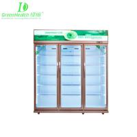 Quality -18℃ Upright Pepsi Commercial Beverage Display Freezer With Glass Door for sale