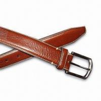 Quality Litchi Grain with Two-size White Stitch Belt, Available in Various Colors for sale