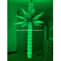 Quality color changing led palm tree light for sale