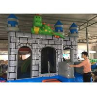 Quality 3 In 1 Big Dragon Bounce House Slide Combo , Dinosaur Jumping Bounce House for sale
