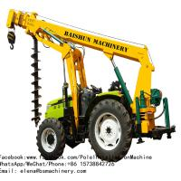 Quality Large Ford Tractor Post Hole Digger , Deep Compact Tractor Post Hole Digger for sale