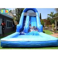 Quality Large Outdoor Backyard Blow Up Water Slide For Adults Environmental Friendly for sale