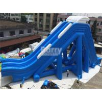 Buy cheap Blue Double Lanes Giant Inflatable Slide For Water Pool Fire Retardant from wholesalers