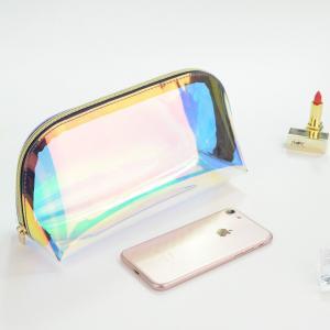 China TPU Custom Clear Waterproof Holographic Cosmetic Bag on sale