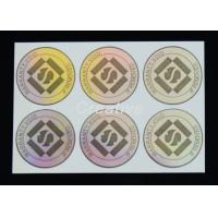 China Transparent PP / PVC / PET 3D Hologram Sticker Glossy varnish Holographic Labels on sale
