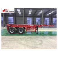 Quality 2/3/4 Axles Flatbed Container Trailer Custom Color With 3mm Diamond Plate for sale