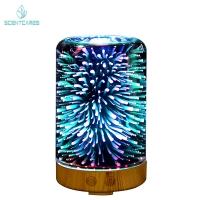 Quality LED Light Ultrasonic Glass 100ML Essential Oil Diffuser for sale