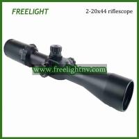 Quality 2-20x44 wide field of view high magnification scope, side focus varmint riflescope for sale