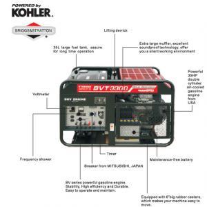 Quality 16KVA Small Gasoline Powered Generator , 17KW Generator BTV3300 for sale
