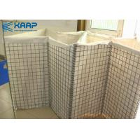 China Hot Dipped Wire Mesh Rock Retaining Wall , Decorative Gabion Baskets Defensive Container Barrier on sale