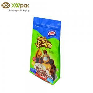 Quality Side Gusset Square Flat Bottom Bag Aluminium Foil Food Grade Plastic Ziplock for sale
