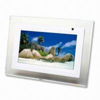 Quality 7-inch Digital Photo Frame, Supports JPEG with Aspect Ratio:16:9 for sale