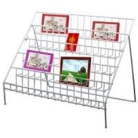 Quality Portable Acrylic Double Side Floor Literature Magazine Display stand Rack 12 compartments for sale