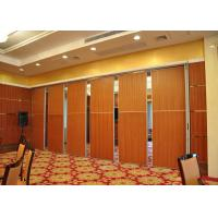 China Melamine Carpet Finish Folding Glass Partitions For Meeting Room on sale