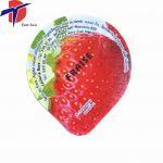Quality HOT Sale! aluminum foil lid plastic yogurt cup lid colored aluminum foil for plastic yogurt for sale
