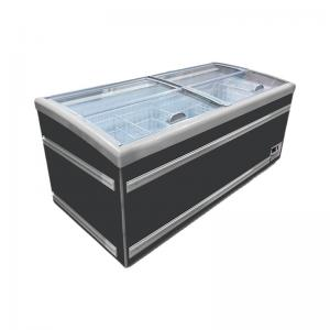 Quality Supermarket Horizontal Frozen Food Island Display Freezer for sale