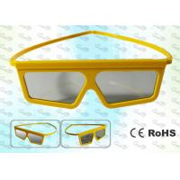 Quality 3D TV Yellow framed Circular polarized 3D glasses CP297GTS06 for sale