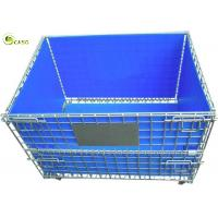 Quality Stacking Turnover Container Warehouse Shelves Storage Metal Pallet Bins Crates for sale