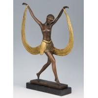 Quality Western Style Bronze Fashion Woman Sculpture for sale
