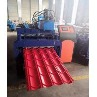 China Metal Glazed Tile Roll Forming Machine 3kw 3.5 Tons Capacity High Efficiency on sale