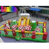 Quality Outdoor Inflatable Fun City / Jumping Obstacle Bouncy Castle For Children for sale