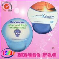 Quality Promotional mouse pad with gel wrist rest for advisement for sale