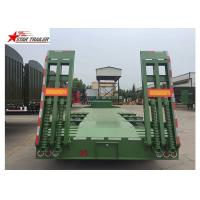 Quality High And Low Panels Low Bed Semi Trailer Exposed Tires Transportation Engineering Machinery for sale
