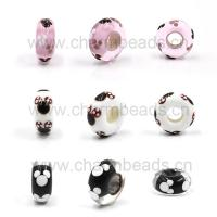 Quality Micky Murano Glass Beads with Big Hole Fit for DIY Charms for sale