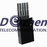 Quality 5 Antenna Portable Mobile Phone and GPS Jammer (GPS L1,GPS L2,GPS L5) for sale