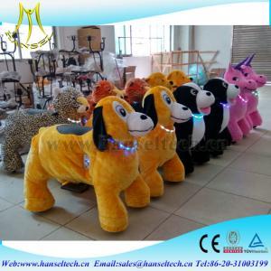 China Hansel hot selling battery operated stuffed electric motorized animal mall on sale