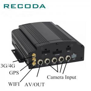 Quality G Sensor Car Dvr Video Recorder 1080P 4Ch Hybrid Cameras HDD+ Dual SD Card for sale