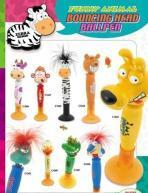 Animal bouncing head pen
