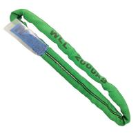 Quality Green Lift All Polyester Slings , 2 Ton Lifting Straps Wide Bearing Surface for sale