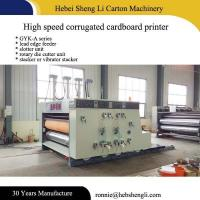Quality 2-6 Colors Corrugated Box Printing Machine With Big Production Per Day for sale