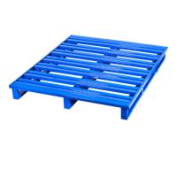Buy cheap Easily Cleaned Stackable Steel Pallets / Metal Pallet Box Two Side Forklift from wholesalers