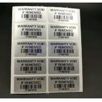 Quality Custom Printable Security Stickers / Labels Moisture Proof For Chemical Packaging for sale