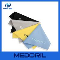 Quality Factory custom print microfiber glasses cleaning cloth with customer logo for sale