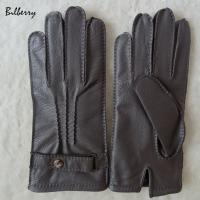 Quality Genuine Wool Lined Mens Soft Leather Gloves Deer Skin Mens Leather Gloves for sale