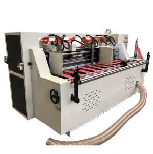 China Automatic Corrugated Slitter Scorer Machine Thin Blade Slitting Creasing Machine With Stacker on sale