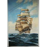 Quality Seascape & Boat Painting -100% Handmade & Museum Quality for sale