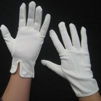 China 100% cotton white gloves parade gloves  high quality cotton fabric on sale