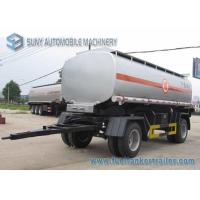 Quality 15000 L 2 Axles Oil Tank Trailer , Full stainless steel tanker trailers For Water / Chemical / LPG for sale