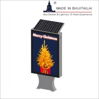 China Double Sided EPDM Seal 4G Solar Powered Light Box on sale