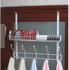 Quality over door metal wire storage rack,bath rack for sale
