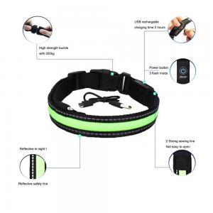 China Inflatable Smart LED Dog Collar / Custom Nylon Flashing Dog Leashes on sale