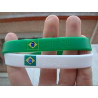 Quality Country Flag Friendship silicone Bracelet Wristband for Football Team Soccer Fans for sale